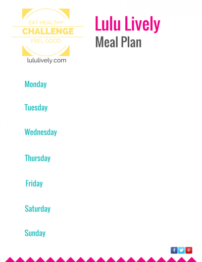 Lulu Lively Meal Plan